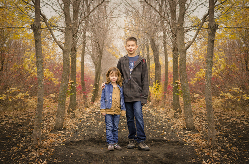 Fall Family Photography Session in Rural Manitoba. Photograph by Imagery by Bean - www.imagerybybean.ca